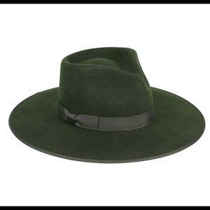 LACK OF COLOR- Rancher Green Fedora NWT
